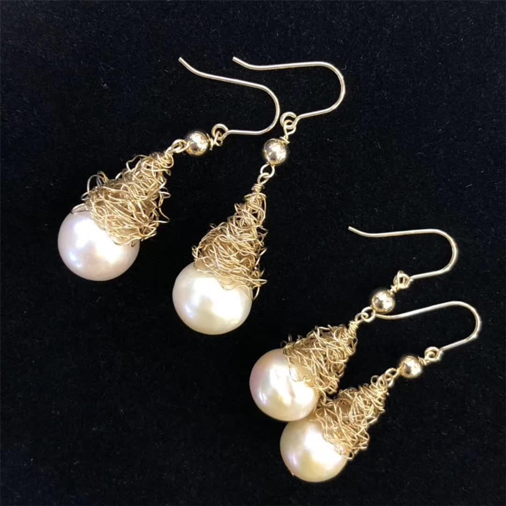 hand made gemstone fine jewelry factory wholesale fashionable 14k gold wrap natural white pearl gemstone pendant earring hand made gemstone fine jewelry factory wholesale fashionable 14k gold wrap natural white pearl gemstone pendant earring