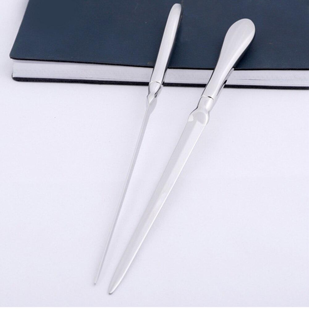 Strict Universal Envelope Knife Letter Opener Lightweight Hand Slitter Silver School Stainless Steel Solid Office Practical Cutter