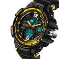 Moda masculina Esporte Militar Relógios De Pulso 2016 Nova Marca de Relógios de Luxo Homens Analógico Quartz Relógios À Prova D' Água 30 m Dive Digital LED
