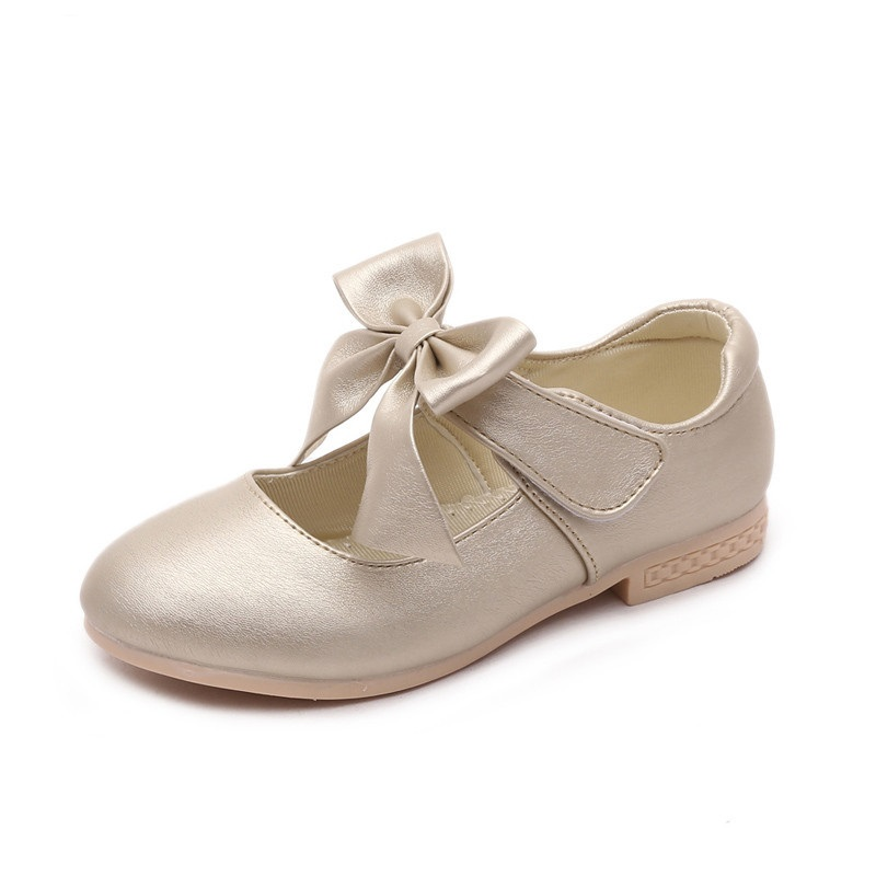 COZULMA 2018 Spring Summer Girls Dress Shoes Girls Princess Leather Shoes Children Casual Shoes Sneakers Kids Leather Shoes Flat snowkimi2018 spring girl butterfly leather shoes leather breathable children flat heels dress shoes