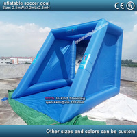 2.5mWx3.2mLx2.5mH inflatable soccer goal portable inflatable football shoot outdoor inflatable soccer kick shooting game