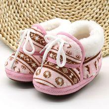 Mieli batai šiltos minkštos baltos spalvos Retro spausdinimo batai su medvilnine paklota kūdikių kūdikių berniukų mergaičių minkšta batai 6-12M