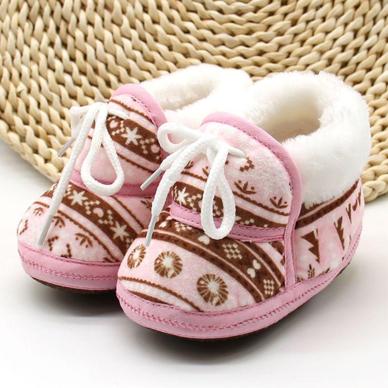 Leuke schoenen warme zachte baby retro afdrukken schoenen katoen - Baby schoentjes - Foto 1