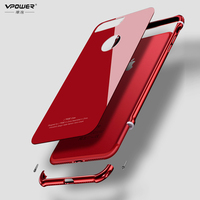 Luxury Vpower For IPhone 8 8 Plus Aluminum Frame Tempered Glass Cover Ultra Thin Back Cover