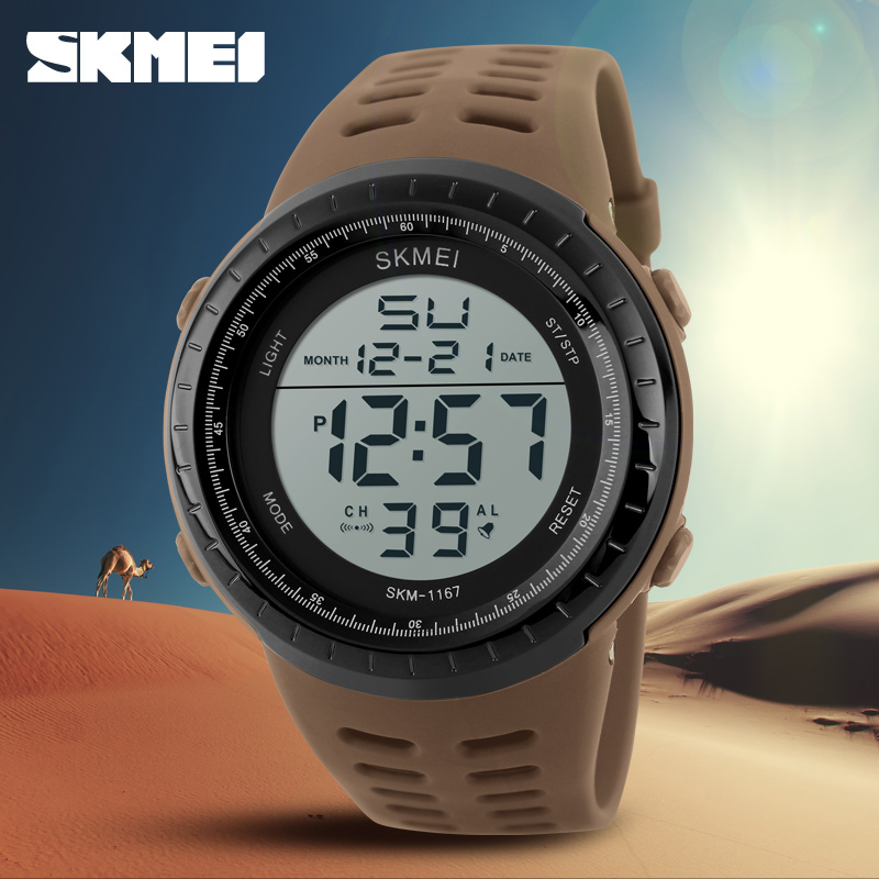 SKMEI Mens Watches Luxury Sport Army Outdoor 50m Waterproof Digital Watch Military Casual Men Wristwatches Relogio MasculinoSKMEI Mens Watches Luxury Sport Army Outdoor 50m Waterproof Digital Watch Military Casual Men Wristwatches Relogio Masculino