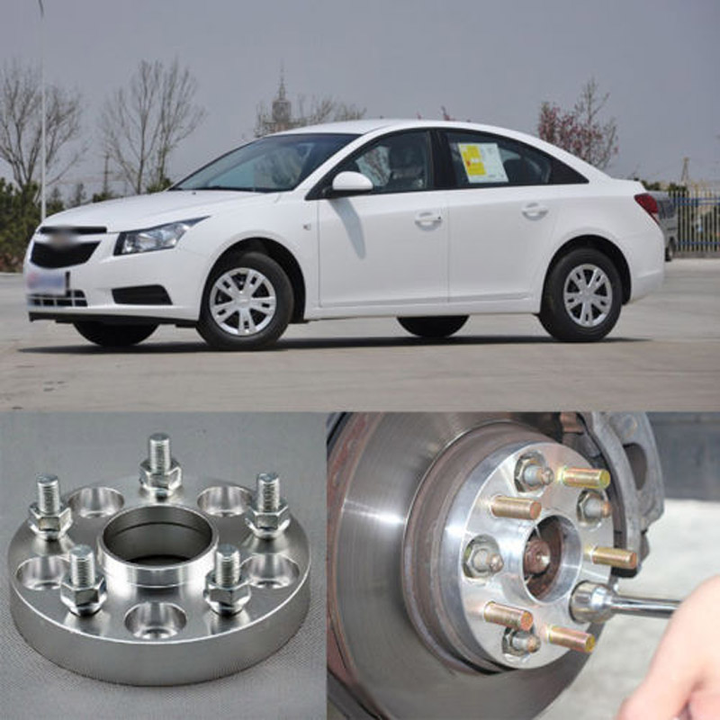 Teeze 4pcs New Billet 5 Lug 12*1.5 Studs Wheel Spacers Adapters For Chevrolet Cruze 2009 -2017 teeze 4pcs new billet 5 lug 14 1 5 studs wheel spacers adapters for bmw x5 e70 2007 2013