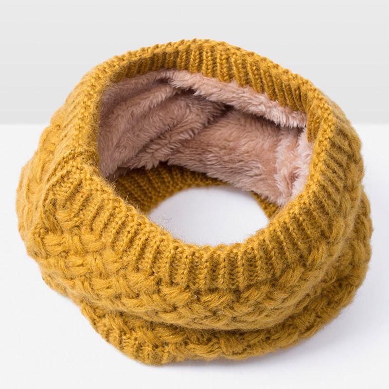 Зимний шарф для женщин, мужчин, детей, утолщенный шерстяной воротник, шарфы для девочек, шейный шарф, хлопок, унисекс, вязаный шарф-кольцо - Цвет: M
