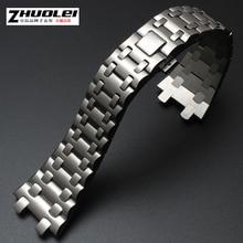 Livraison gratuite 28mm de haute qualité importés en acier inoxydable montre bracelet avec à la mode boucle Montre accessoires