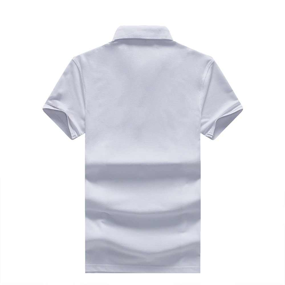 2019 プラスサイズ 3XL ブランド服新夏ポロシャツ男性半袖綿通気性ファッションカジュアル固体オムカミーサ
