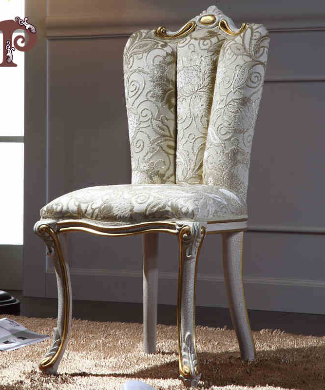 European Wood Carving Carved Furniture Dining Room French Luxury High End Custom Fabric