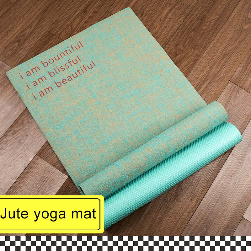 tapis de yoga en jute naturel livraison gratuite et sangle de transport durable