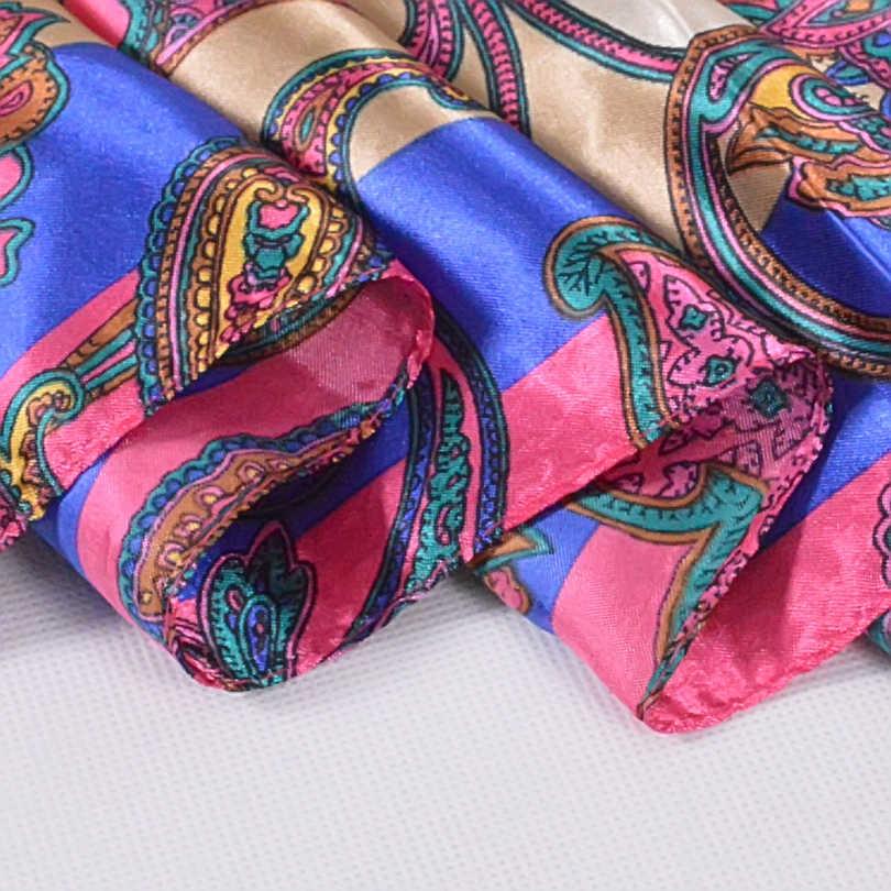 Nuovo Stile Pelle di Serpente Modello Quadrato Sciarpe Avvolge Stampato a Caldo di Vendita Delle Donne Rosa Blu di Seta Dello Scialle Della Sciarpa Unisex di Seta Musulmana Del Silenziatore