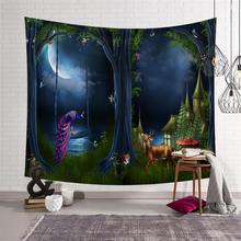 Forest Tapestry Wall Hanging Wall Carpet Mandala Yoga Mat Beach Towel Picnic Throw Rug Blanket Bedroom Livingroom Home Decor недорго, оригинальная цена