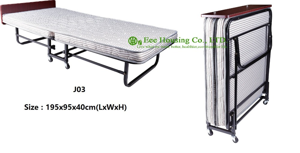 Hotel Extra Folding Bed,10cm Sponge Rollaway Beds For Hotel Guest Room Single Size Roll Away Folding Hotel Extra Bed