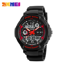 Fashion Men's Quartz Digital Watch Children Sports Watches SKMEI Brand LED Military Waterproof Wristwatches