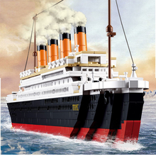 1021 шт. Sluban 0577 игрушка круиз корабль RMS титановая Лодка 3D модель здания Конструкторы Совместимость с legoe brinquedos игрушечные лошадки и хобби
