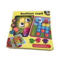 Composite Picture Puzzle Creative Mosaic Mushroom Nail Kit Educational Toys Button Naild Art 3D Toys For