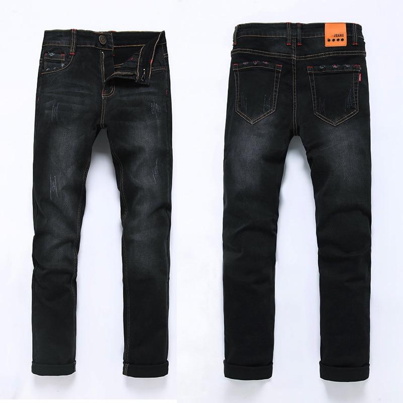 High Quality 2017 Fashion Demin Jeans Men Slim Fit Black & Blue Color Plus Bigger size 28-46 48 hee grand new design straight jeans men fashion classical scretched slim high quality demin trousers size 28 36 mkn929