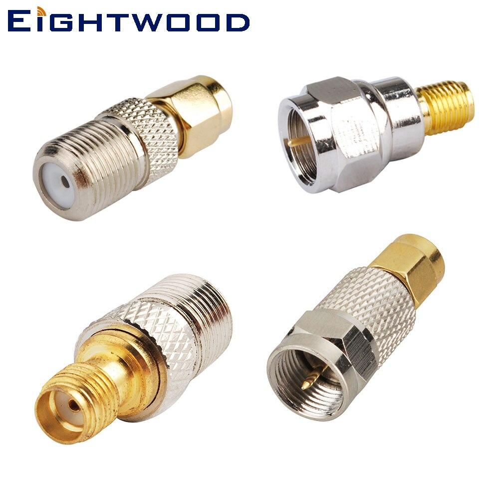 Eightwood 4PCS DAB/DAB+/FM/AM car radio Aerial Adapter RF Connector Adapter Test Converter Kit Set