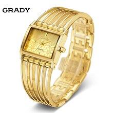 Золотые Женские Часы Женщины Часы Женские Моды Роскошные Часы Женщины Наручные Часы Кварцевые Часы Бесплатная Доставка
