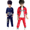 Toddler Tracksuit Spring Boy Clothes Sets Children Sports Suit Kid Clothing Set Printing Stars Cotton Coat+Pants 2Pcs Sportswear
