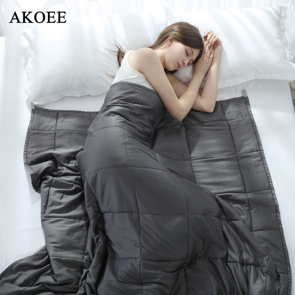 Weighted Blanket 100% Cotton Improve Sleeping Decompression Relief Anxiety Gravity blanket For Adults Quilt Heavy Blanket