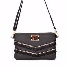 b900fc653b JIARUO Vintage Fringe Tassel Envelope Bag Small Slim Women Leather  Crossbody Bag Ladies Messenger Bag shoulde
