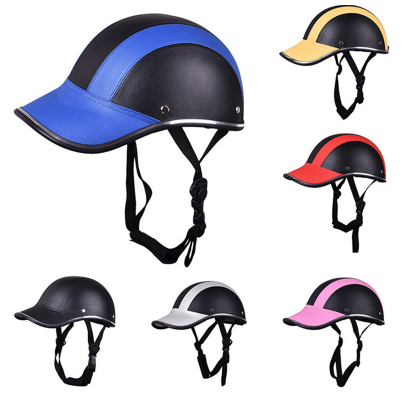 Newest ABS Motorcycle Helmet Baseball Cap Style Half Open Face Helmet Safety Hard Hat Bike Baseball Helmet Protective For Unisex