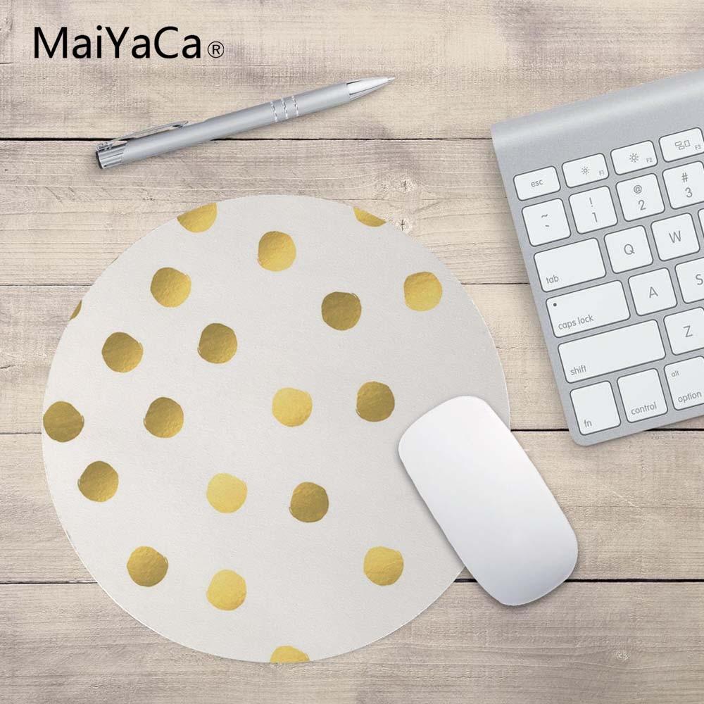 MaiYaCa Polka Dot Nieuw Klein formaat rond muismat Antislip rubberen - Computerrandapparatuur - Foto 1