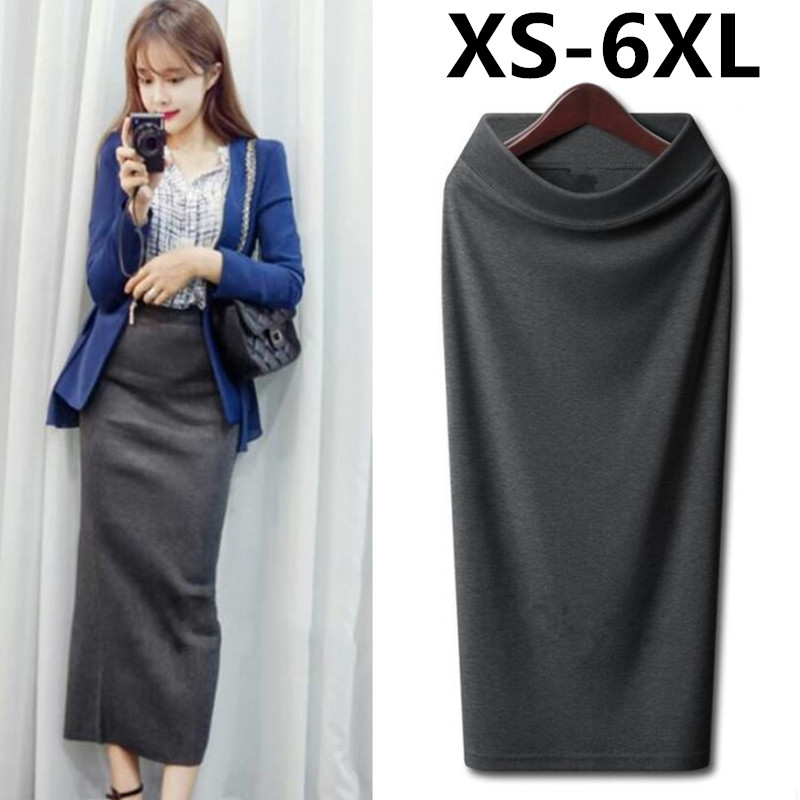 Autumn Winter Skirt Women Long Skirt Thick High Waist Pencil Skirt Ladies Elegant Slim Plus Size Woolen Skirts Women XS - 5XL 6X