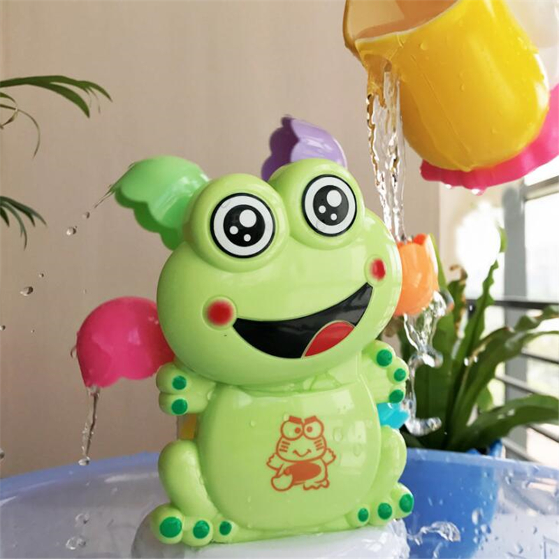 Funny Water Game Bath Toy Frog Shower Faucet Baby Toys Spout Play Bathing Shower Toys For Children Kids Beach Toy Oyuncak