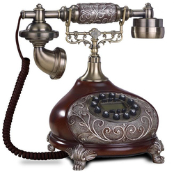 European Fashion Vintage fixed Telephone key Dial Antique Landline Phone For Office Home Hotel made of resin rilievo antika