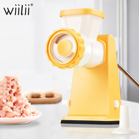 WIILII Manual Meat Grinder For Vegetable Food Chopper Kitchen Stainless Steel Onion Nut Chopper Sausage Stuffer Kitchen Tool