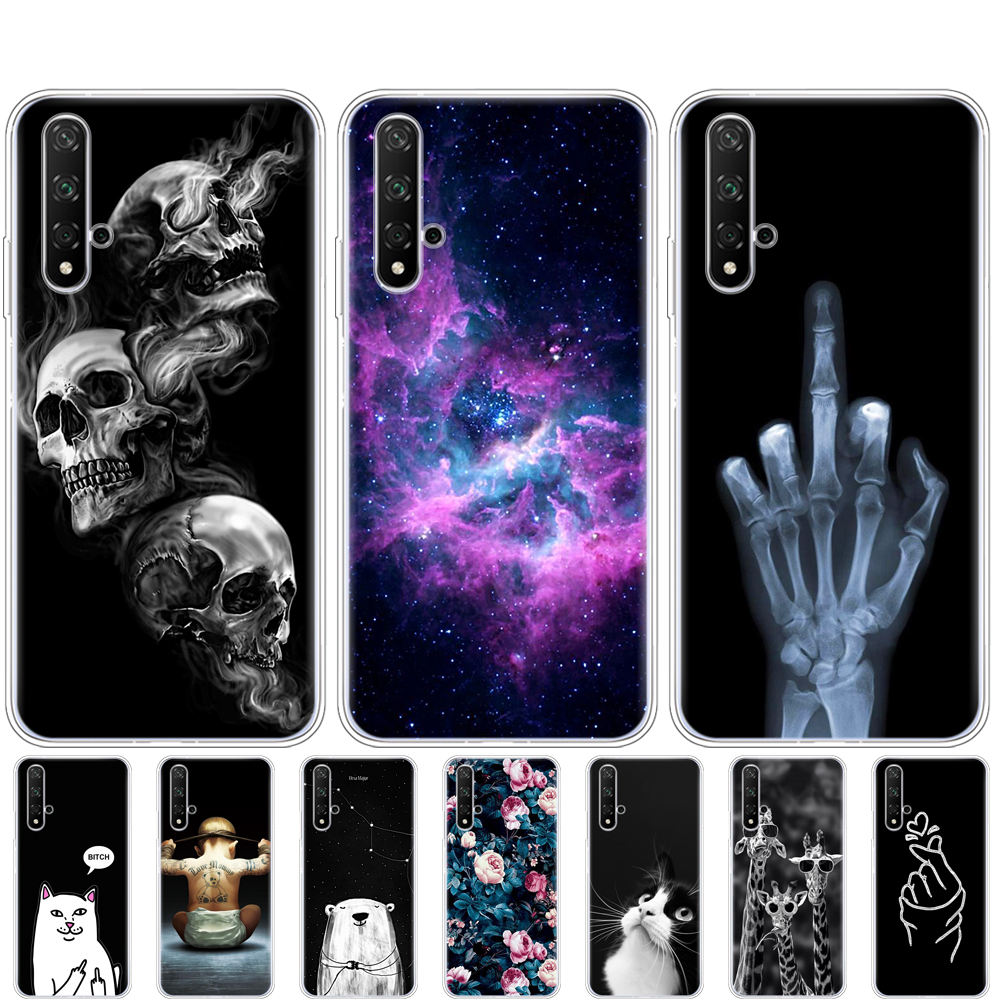 Case For Honor 20 Silicon Back Cover Phone Case For Huawei Honor 20 Pro Lite YAL-L21 YAL-L41 Luxury Cover Full 360 Protective image