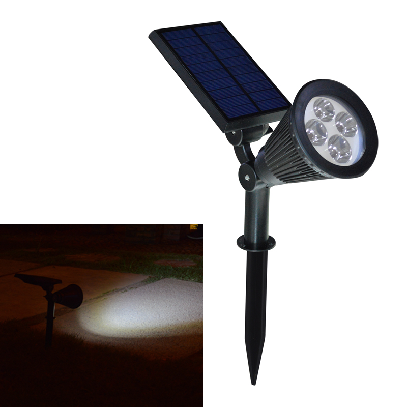 solar power spotlight garden lawn lamp landscape spot lights wall
