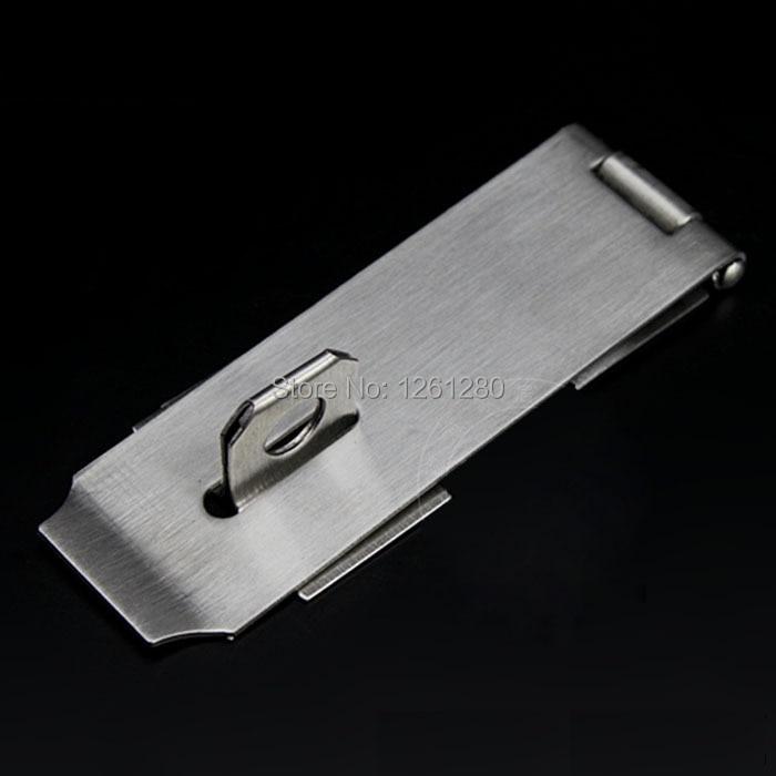 Frete grátis fivela de aço inoxidável fechamento da gaveta de bloqueio Casa  Ornamentação Fechadura Da Porta Hardware Cadeado hasp 6e0061fce02
