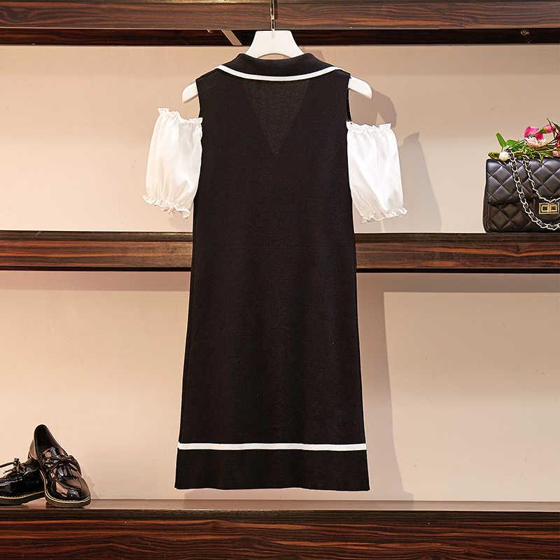 Летняя новая женская одежда большого размера, толстый мм, подходит