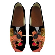 Noisydesigns Men Loafers Cartoon Animals Print Canvas Men's Shoes Man Summer Breathable Flats Slip-on Men Casual Lazy Shoes