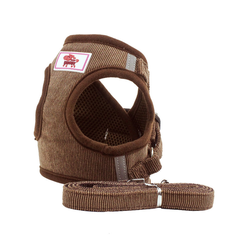 High Quality Comfortable Pet Dog Harness Leash Set Adjustable Breathable Dog Cat Collar Vest Harness Dog Puppy Pet Chest Strap in Sets from Home Garden