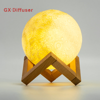 GX Diffuser LED Night Light Moonlight Desk Lamp 3D Magical Moon Rechargeable 3 Nightlights Colors For