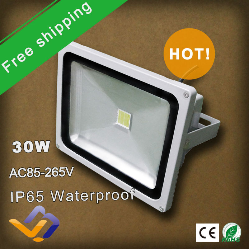 ФОТО 2pcs/lot free shipping High power LED Flood Light 30W White/Red/Blue/Green/Yellow colorful lighting waterproof outdoor lamp