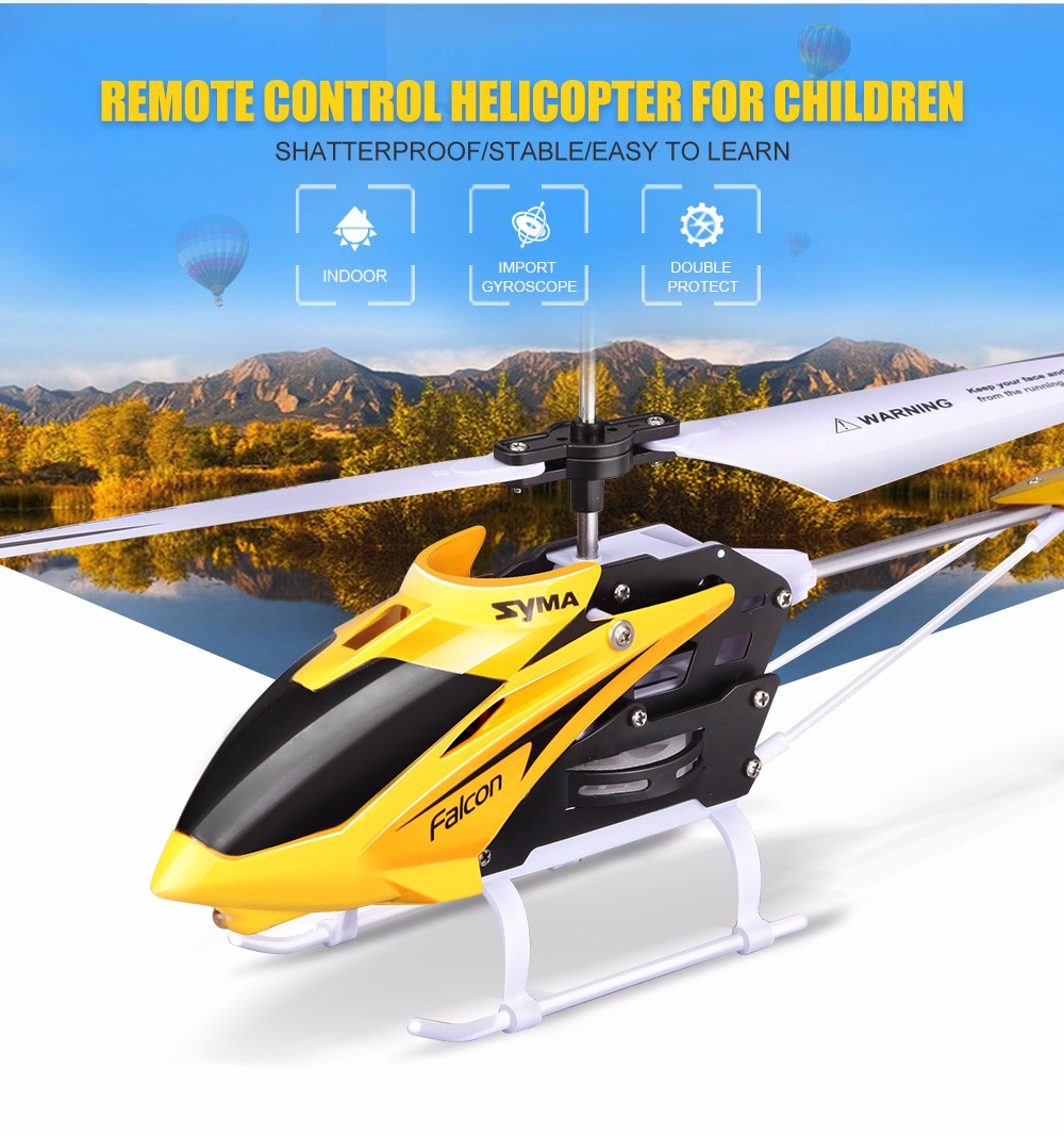 New Arrival Syma W25 RC Drone 2.4G 3CH Remote Control Helicopter Shatterproof RC Helicopter Quadcopter toys for children gift syma 107e remote control mini drone 3ch rc mini helicopter gyro crash resistant baby gift toys smallest helicopter kid air plane