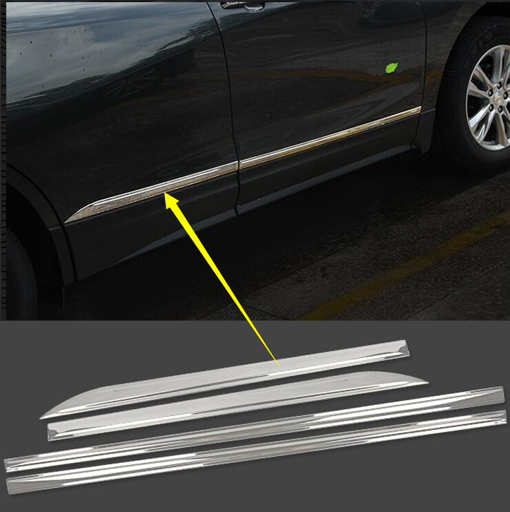 car-styling case For Chevrolet Equinox Third GE 2017 stainless steel Car-styling Car Side Door Body Streamer Cover Trim 4pcs car-styling case For Chevrolet Equinox Third GE 2017 stainless steel Car-styling Car Side Door Body Streamer Cover Trim 4pcs