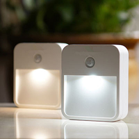 1LED 10lumens Motion Sensor Nightlight For Basement Hallway Bathroom Closets Attic Garage Stair Lighting Night Lamps