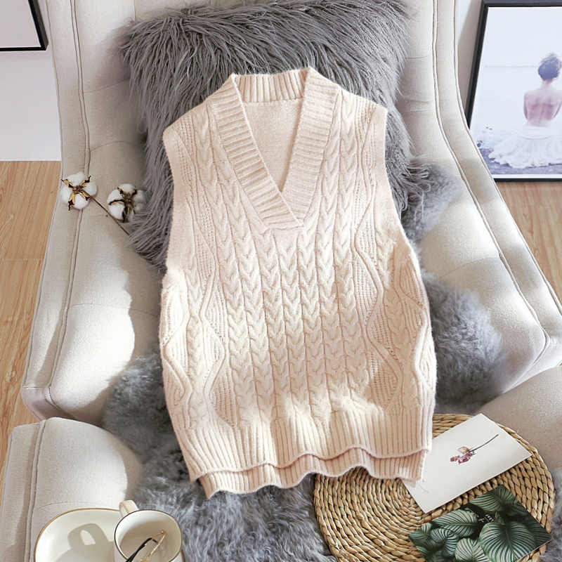2019 winter neue gestrickte weste frauen feste kurze dame verdicken warme elegante pullover outwear tops