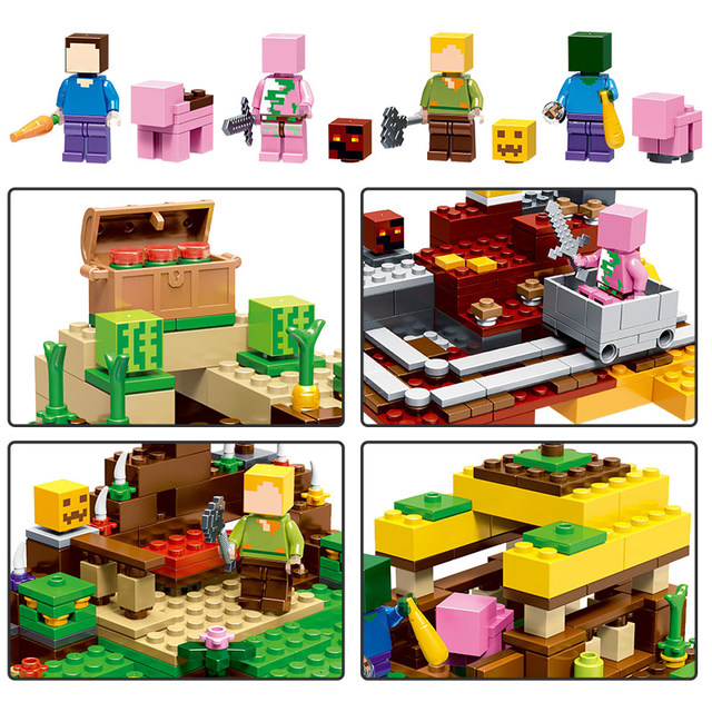 2018 NEW Technic My World Harvest Series Building Blocks Compatible LegoINGLYS Minecrafter Bricks Toys for Children Gift 2