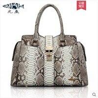Yuanyu новый тип boa кожи женская сумка, натуральная кожа питона boa кожаная сумка для змеи, ручной, змея запястье мешок, большой для женщин сумка
