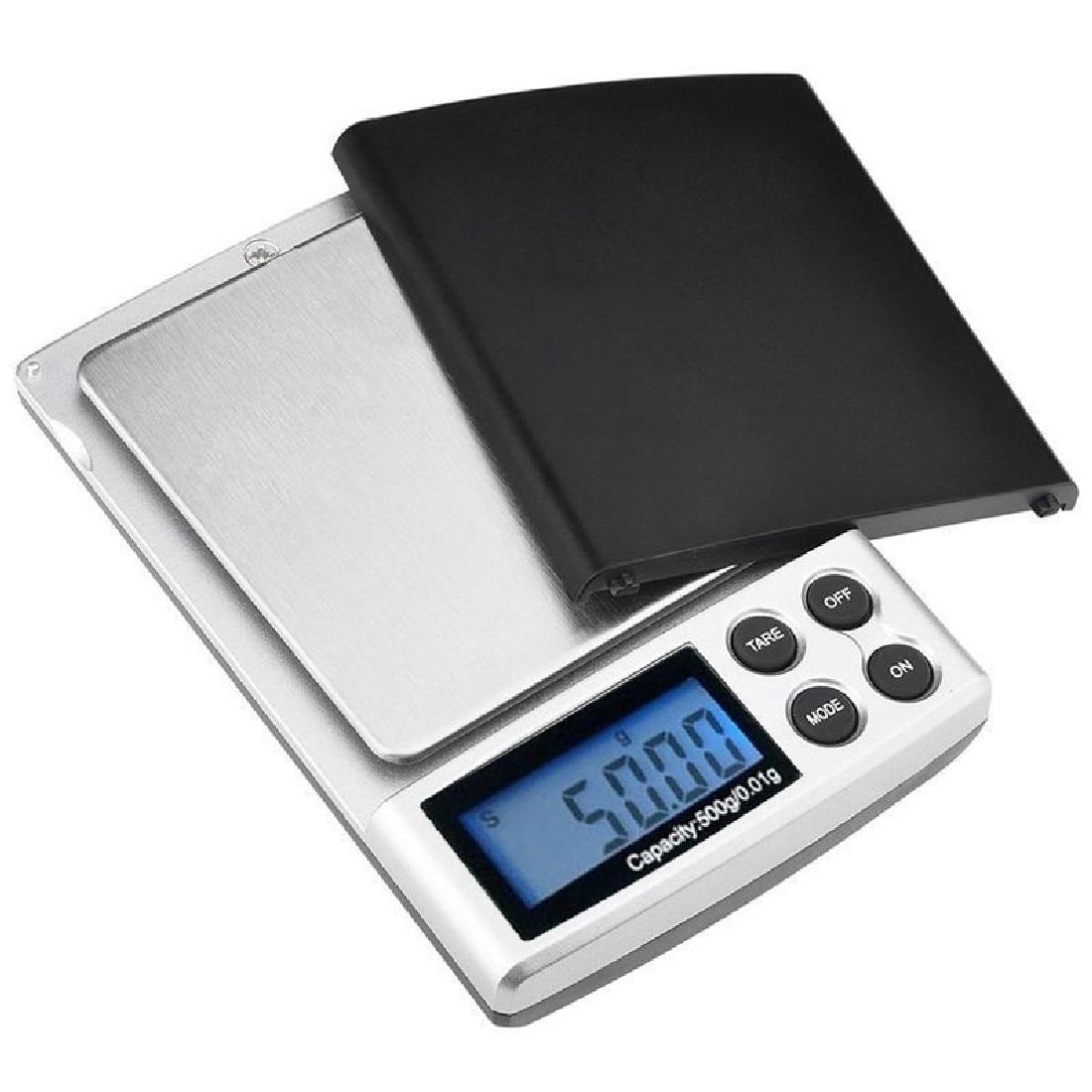 1pc 500g x 0.01g Escala de precisión digital Oro Plata Joyería - Instrumentos de medición - foto 3