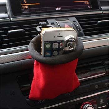 Organizator samochodu Air Vent uchwyt na telefon kieszeń na samochód śmieci worek do przechowywania Auto organizator kieszeń do przechowywania dla iPhone papieros klucze monety tanie i dobre opinie tuochvy Seat Szczelinowa Schowek Torba Diving fabrics 13 5X11CM