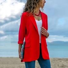 Six Senses Womens Tops and Blouses Fashion Lapel Slim Cardigan Temperament Suit Jacket Clothing Blazers HM005